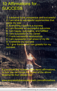Affirmations to help the law of attraction
